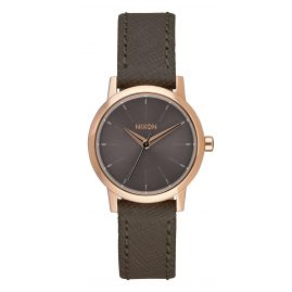 Nixon A398 2214 Kenzi Leather Roségold Taupe Damenuhr