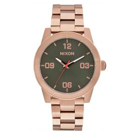 Nixon A919 2283 G.I. SS Rose Gold/Green Ladies Watch