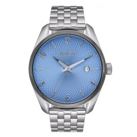 Nixon A418 2363 Bullet Silver/Sky Blue Ladies Watch