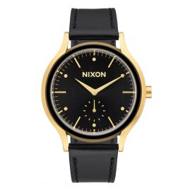 Nixon A994 513 Sala Leather Gold/Black Ladies Watch