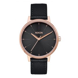 Nixon A108 1098 Damenuhr Kensington Leather Rose Gold/Black