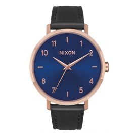 Nixon A1091 2763 Ladies Watch Arrow Leather Rose Gold/Indigo/Black