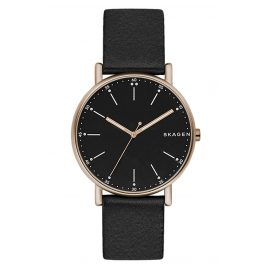 Skagen SKW6401 Mens Watch Signatur Leather Black