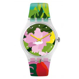 Swatch SUOK132 Damenuhr Tropical Garden