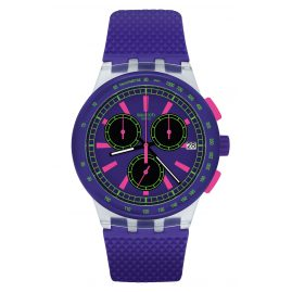 Swatch SUSK400 Chronograph Armbanduhr Purp-Lol