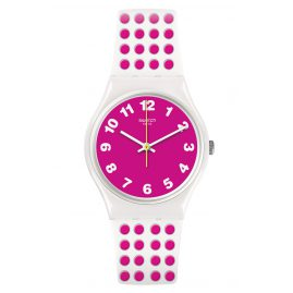Swatch GW190 Ladies Watch Pink Dots