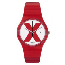 Swatch SUOR400 Herren-Uhr XX-Rated Red