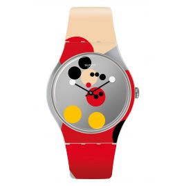 Swatch SUOZ290S Armbanduhr Mirror Spot Mickey Limited Edition