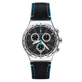 Swatch YVS442 Irony Chrono Mens Watch Blue Details