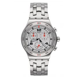 Swatch YVS447G Herren-Chronograph Silver Again