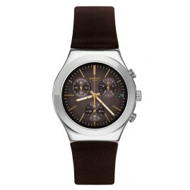 Swatch YCS600 Herrenuhr Automatik Brownflect