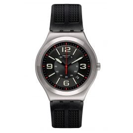 Swatch YWS444 Herrenuhr Black Grid
