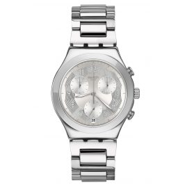 Swatch YCS604G Herrenarmbanduhr Chronograph Silver Ring