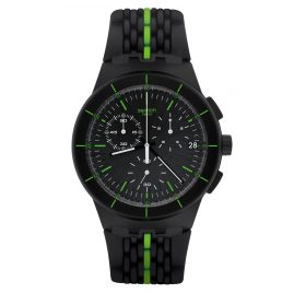 Swatch SUSB409 Laser Track Mens Watch Chronograph