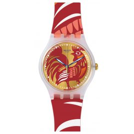 Swatch SUOZ226 Rocking Rooster Armbanduhr