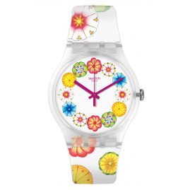 Swatch SUOK127 Damenarmbanduhr Kumquat