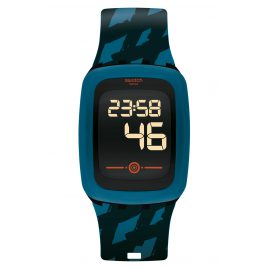Swatch SVQB100 Touch Digital-Armbanduhr Petrozero2