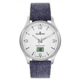 Dugena 4460861-RBL Herren-Funkuhr mit Rochenleder-Armband