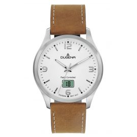 Dugena 4460861-VHBR Men's Radio-Controlled Watch with Vintage Leather Strap