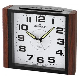 Dugena 4460592 Alarm Clock with Sweep Second Hand and Snooze