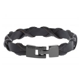 Boss 50397383 Leather Men's Bracelet Barret Dark Brown