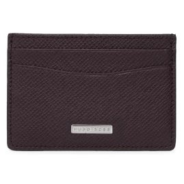 Boss 50311746 Credit Card Case Signature Dark Red