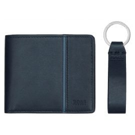 Boss 50380141 Wallet Gift Set for Men Navy