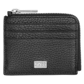Boss 50397424 Men's Credit Card Case Crosstown Black