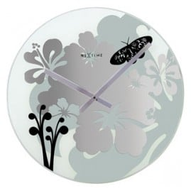 NeXtime 8087 Hibiscus Wall Clock