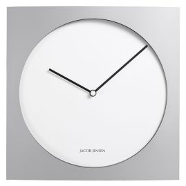 Jacob Jensen JJ-319 Wall Clock Silver/White