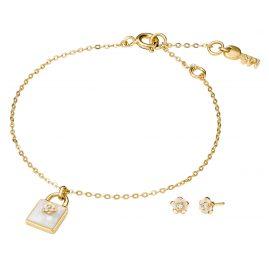 Michael Kors MKC1194AH710 Ladies´ Jewellery Set Bracelet and Earrings Flower