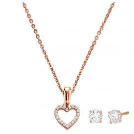 Michael Kors MKC1130AN791 Schmuckset Halskette und Ohrringe Herz