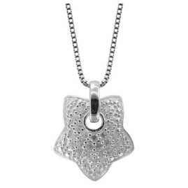 trendor 48764 Silber Halskette mit Stern-Anhänger