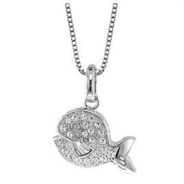 trendor 48788 Silver Blowfish Pendant with Chain