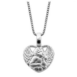 trendor 48979 Amorherz Anhänger mit Kette Silber