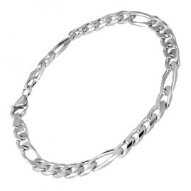 trendor 41444 Silber Herren Armband Figaro