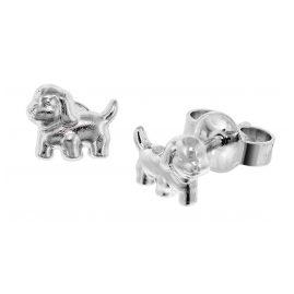 trendor 49181 Silber Mädchen-Ohrstecker Hund