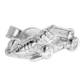 trendor 60804 Einzel-Ohrstecker Rennwagen Silber