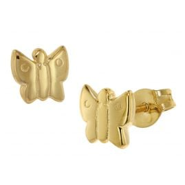 trendor 48634 Gold Ohrringe Schmetterling