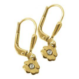 trendor 61054 Gold Kinder-Ohrringe Blume