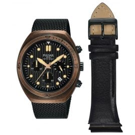 Pulsar PT3984X2 Men´s Watch Chronograph with Additional Strap