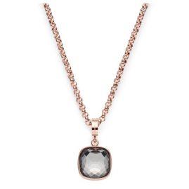 Leonardo 016578 Damen-Halskette Cuscino rosé