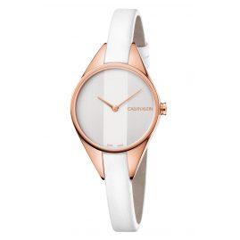 Calvin Klein K8P236L6 Damen-Armbanduhr Rebel Rosé/Weiß