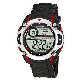 Calypso K5577/4 Digitaluhr Chronograph Rot