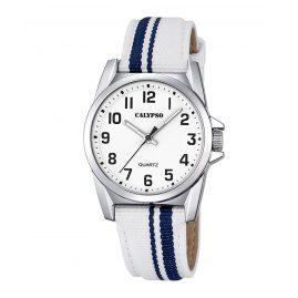 Calypso K5707/1 Kinder-Armbanduhr Weiß/Blau
