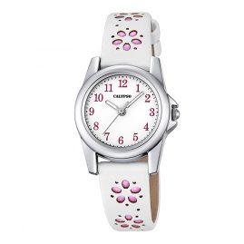 Calypso K5712/2 Mädchen-Armbanduhr Weiß/Rosa