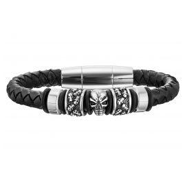 Police PJ25887BLB.01-L Leder Herren-Armband Soul
