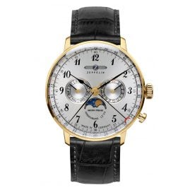 Zeppelin 7038-1 Hindenburg Moon Phase Mens Watch