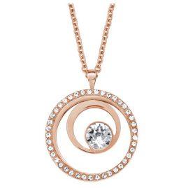 s.Oliver 2015047 Damen-Halskette Rosé