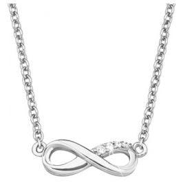 s.Oliver 2017245 Silber Damen-Halskette Unendlichkeit